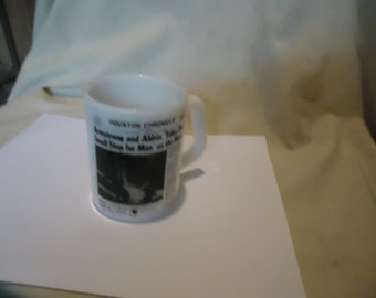 Vintage fédéral Houston Chronicle Moon Landing Mug ou tasse, à collectionner