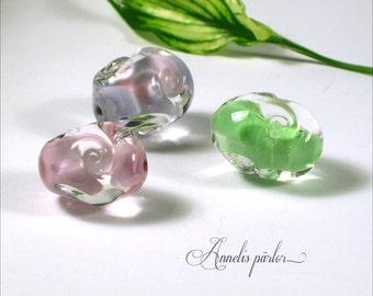 Handmade lampwork focal beads, Artisan glass beads, SRA focal glass beads, jewelry supplies