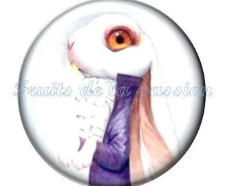 1 cabochon 30mm, fairytales, round glass
