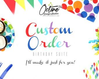 OctaneOnEtsy --- CUSTOM Birthday Invite or Birthday Ticket Invite Only