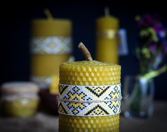 Beeswax candle thick.