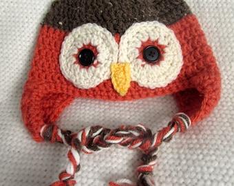 Crochet Owl Hat, toddler gift, owl hat, crochet hats for kids, toddler girl, boy toddler, crochet animal hats, toddler hat, toddler birthday