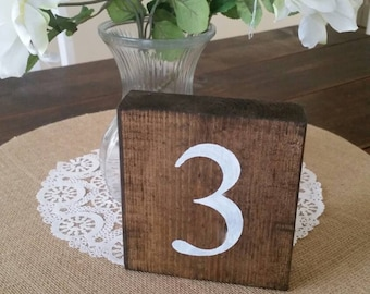 Wood Table Numbers, Rustic Table Numbers, Wedding Table Numbers, Rustic Wedding Table Numbers