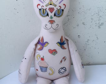 Sphynx cat, cat lovers gifts, sphynx cat toy, cat decor