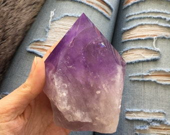 Bolivian Amethyst point, Large, amethyst point
