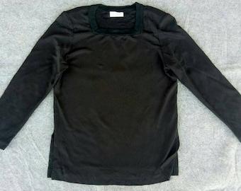 Vtg Womens YSL Yves Saint Laurent L/S T-Shirt