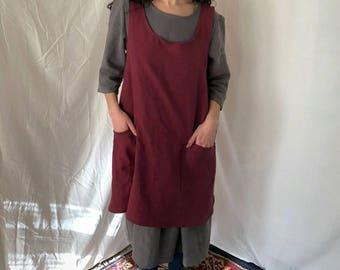 Lucia apron / linen apron / linen smock / crossback apron / pinafore / mobius apron