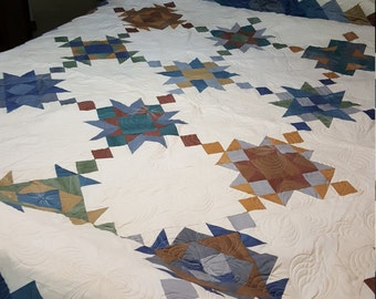 Muslin Queen Sized Bed Quilt