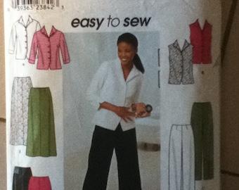 """Simplicity Shirt, Pants & Skirt Pattern 9158  Size: 14-20, Bust 36""""-42"""", Waist 28""""-34"""", Hip 38""""-44"""""""