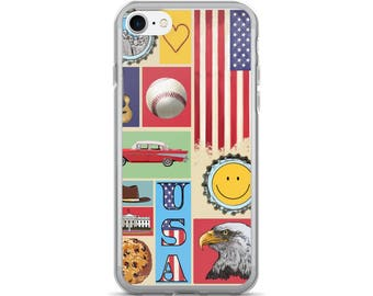 America the Beautiful, iPhone 7/7 Plus Case, USA, Pride, Patriotism, Americana, Red White and Blue, Stars and Stripes
