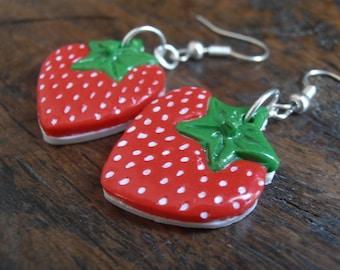 Earrings - Strawberry