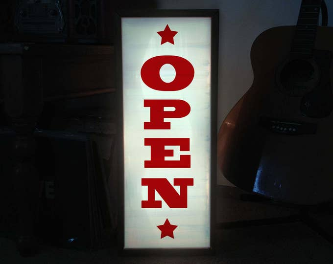 Bold Western LED Custom Light Box Open Sign