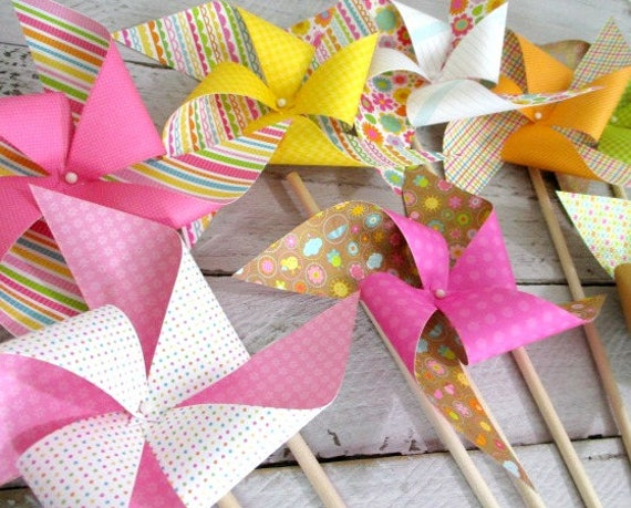 Birthday Decorations Paper Pinwheel Party Favors Birthday
