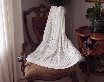 Lace Knit Baby Blanket Pattern