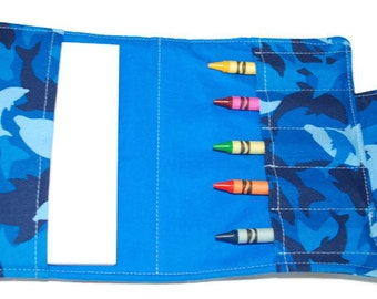 Crayon Wallet - Dolphin Camouflage