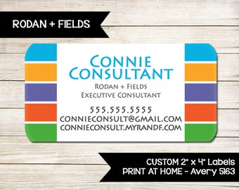 RODAN AND FIELDS | Catalog Labels | Consultant Information Stickers | Rodan + Fields | Custom | Print at Home