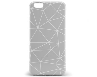 1389 // Gray and White Geometric Lines Phone Case iPhone 5/5S, 6/6S, 6+/6S+ Samsung Galaxy S5, S6, S6 Edge Plus, S7