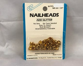 "EZ International Brass Nailheads N81-30 1/4"" 50 Pieces"