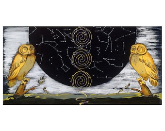 "Celestial Owl Print, 13""x19"""