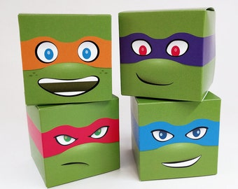 Teenage Mutant Ninja Turtles Treat Box - DIY Printable