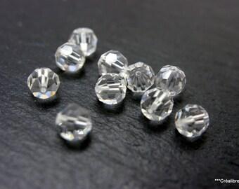 20 7 mm faceted swarovski crystal beads