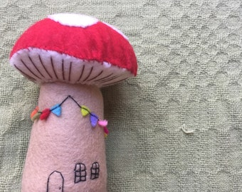 100% wool Fairy Toadstool