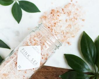 Bath Salts   Natural Bath Salts   Vegan Bath Salts   Dead Sea and Pink Himalayan Bathing Salts with Citrus   Spa & Relaxation   Pink Sea