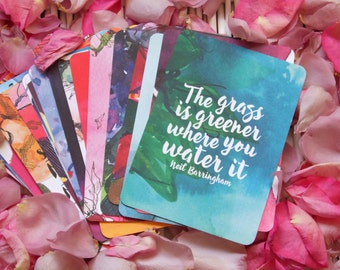 Watercolour affirmation cards