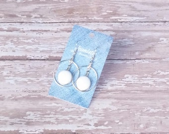 Denim Hoop Earrings