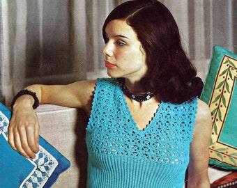 Instant Download - PDF- Vintage Top Crochet Pattern (AD25)