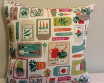 "Clearance 16"" Handmade contemporary modern green, beige garden cushion cover,  pillow, scatter cushion."