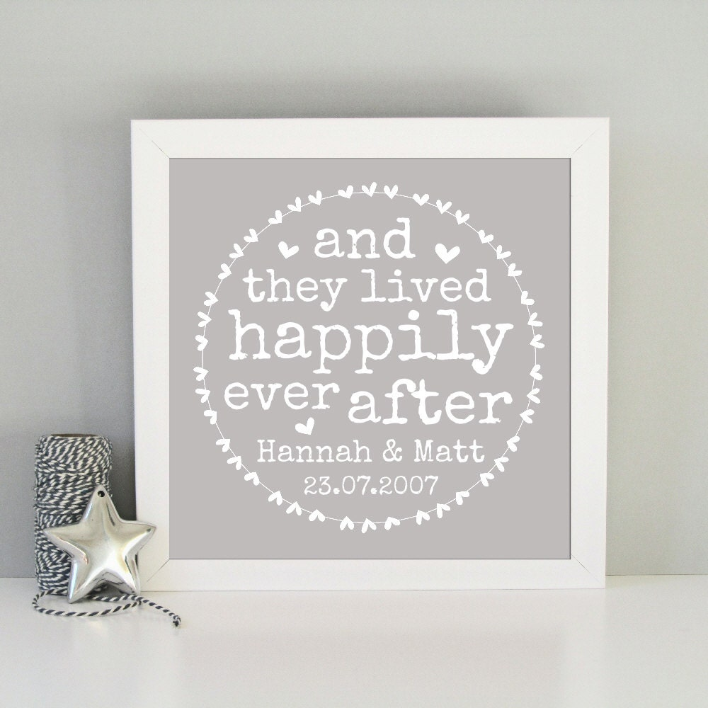 Wedding gift print personalised wedding present zoom negle
