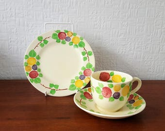 Ridgway California - Handpainted Trio - Cup, Saucer and plate - England - 1950's