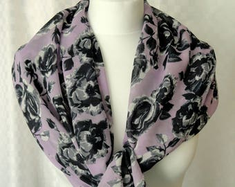 Roses print scarf, Floral print, scarf, Scarf for her, Lightweight scarf, Fashion scarf, Shawl