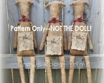 Santa's Reindeer epattern-NOT DoLL,  Crows Roost Prims 381e  Primitive epattern immediate download