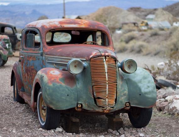 Vintage Car High Quality Print