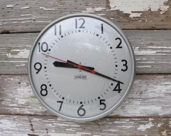 Reserved for Tanya--------------------------------------Vintage School Clock 1960