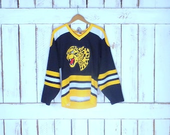 Vintage black/yellow jaguar/leopard athletic sports jersey/striped team jersey/Smith 33 jersey