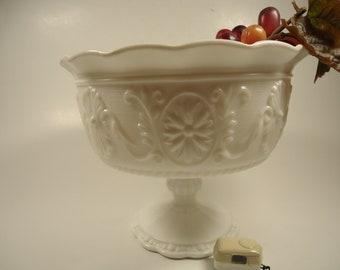 milk glass pedestal vase