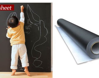 Artist supply -  large Blackboard Chalkboard Wall paper Stickers Removable Vinyl Decor Mural Decals  graffiti wall stickers erasable
