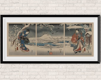 Japanese Wall Art | Etsy