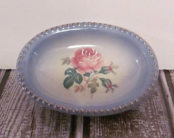 Vintage Small Rose Pattern Fine China Dish