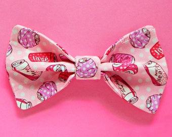 Pink Hair Bow Hair Clip Sweets Hair Accessories Girls Hair Bow Soda Pop Cute Bows Teen Women Hair AccessoriesFairy Kei Bows