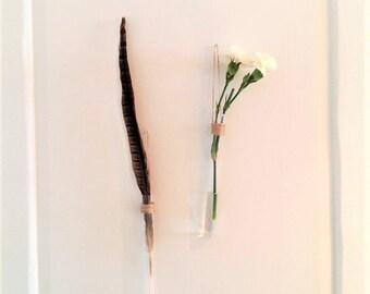 little hanging vase - handmade hang vases - test tube vase