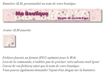 Banner and avatar to shop 'Shabby Floral'