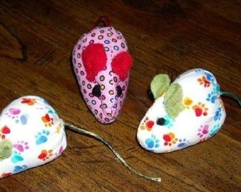 Two Garden Fresh Catnip Mice