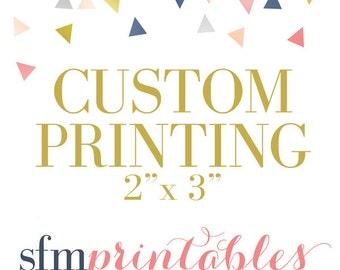 "Custom Printing - 2""x3"" Invitations + Envelopes"