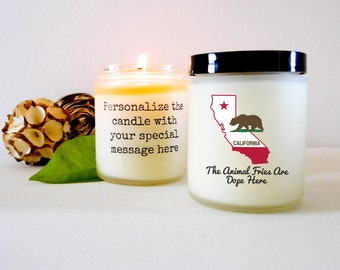 Funny California Candle Gift for Californian Homesick Gift California Gift Moving Gift California Lover Candle California State Candle Gift
