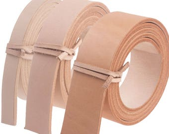 "1 Pc Vegetable Tanned Leather Natural Strip Leather Belt Straps Blank DIY  9/16"" 1"" 1.5"" 14 24 39mm 100cm to 130CM"
