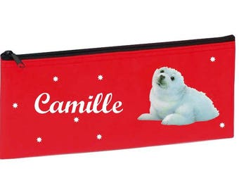 Red White bear personalized with name package